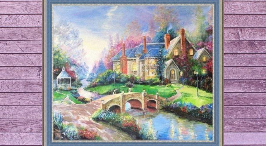 Дом и мостик