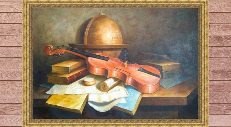 Скрипка на столе