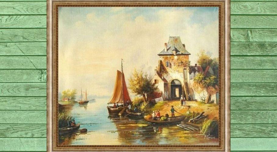 Лодочники на лодках