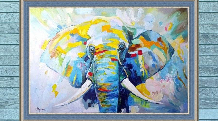 Разноцветный слон