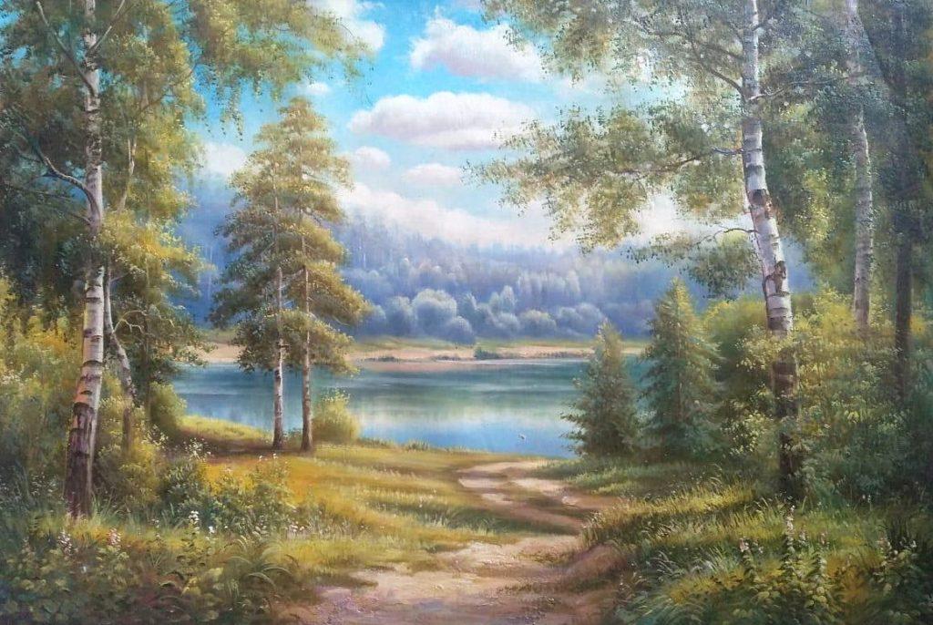 Река за лесом