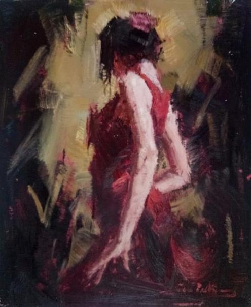 Дама в красном платье