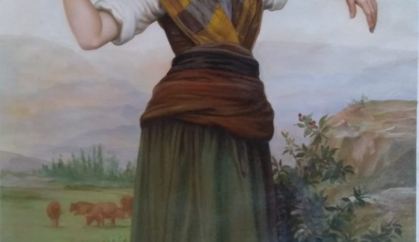 Девушка пастушка