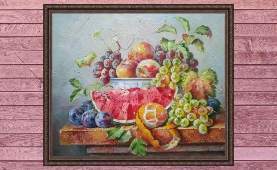 Арбуз и фрукты