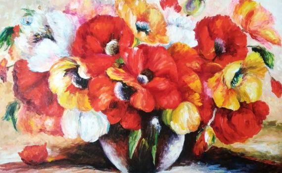 Красные и жёлтые цветы