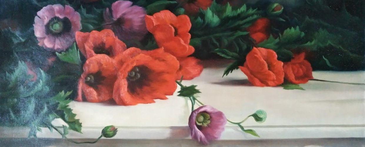 Цветы на мраморе